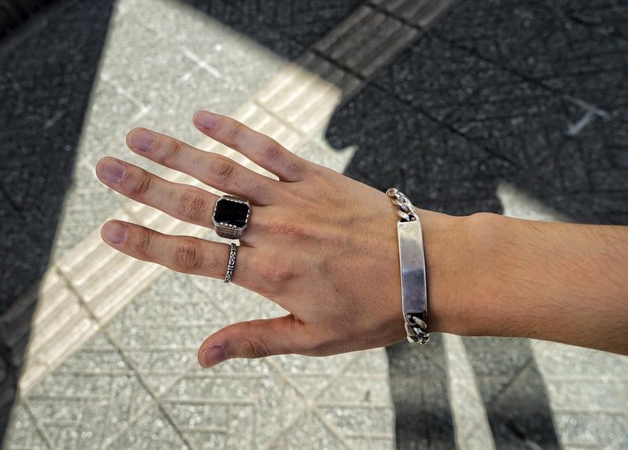 LHN Jewelry(エルエイチエヌ ジュエリー) ハンドメイド ペイズリー バンド リング シルバー メンズ ユニセックス アメリカ製 Paisley Band Ring Silver