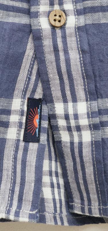 FAHERTY BRAND (ファリティ ブランド) リネン 半袖 チェック シャツ フェイデド ネイビー メンズ