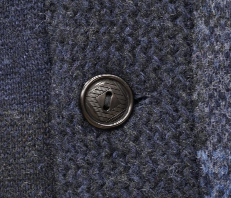 (ダブルアールエル) RRL インディゴ パッチワーク カーディガン 本藍染め カシミヤ ブレンド メンズ Indigo Patchwork Cardigan