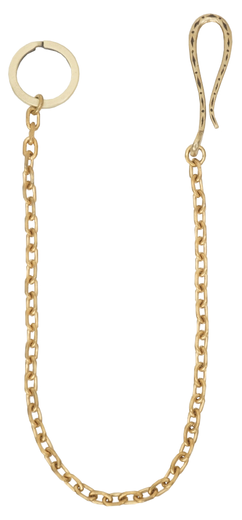 LHN Jewelry(エルエイチエヌ ジュエリー) キーリング ウォレットチェーン キーホルダー プレーン メンズ アメリカ製 真鍮製 Key Ring / Wallet Chain Brass