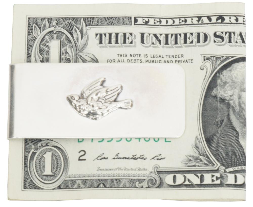 LHN Jewelry(エルエイチエヌ ジュエリー) ハンドメイド 米国製 スターリングシルバー Swallow マネークリップ