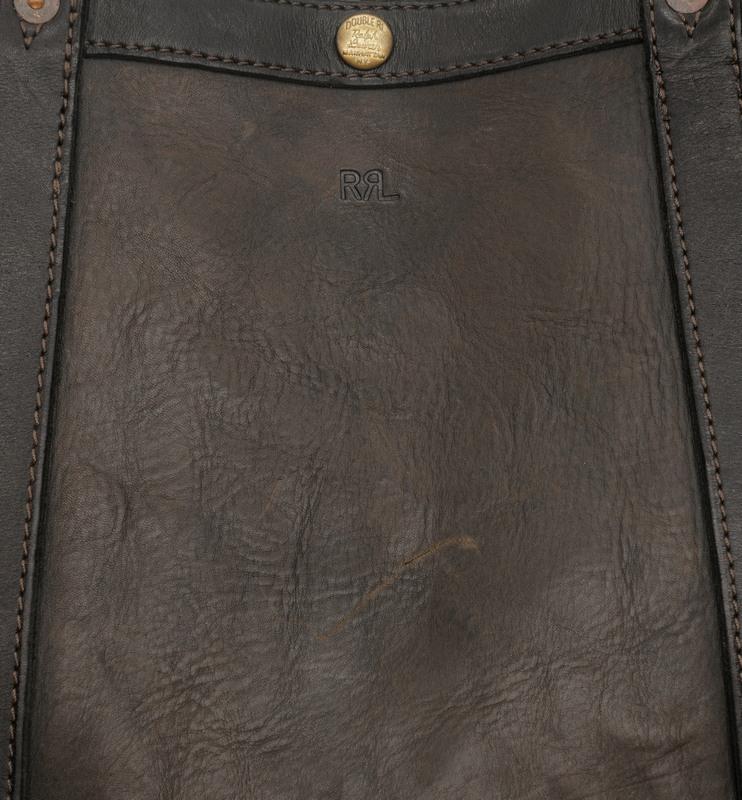 (ダブルアールエル) RRL イタリアンレザー ハリス トート ブラック Leather Harris Tote