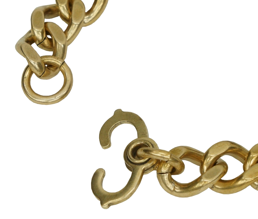 LHN Jewelry(エルエイチエヌ ジュエリー) ハンドメイド ID ブレスレット プレーン 真鍮製 Plain ID Bracelet Brass