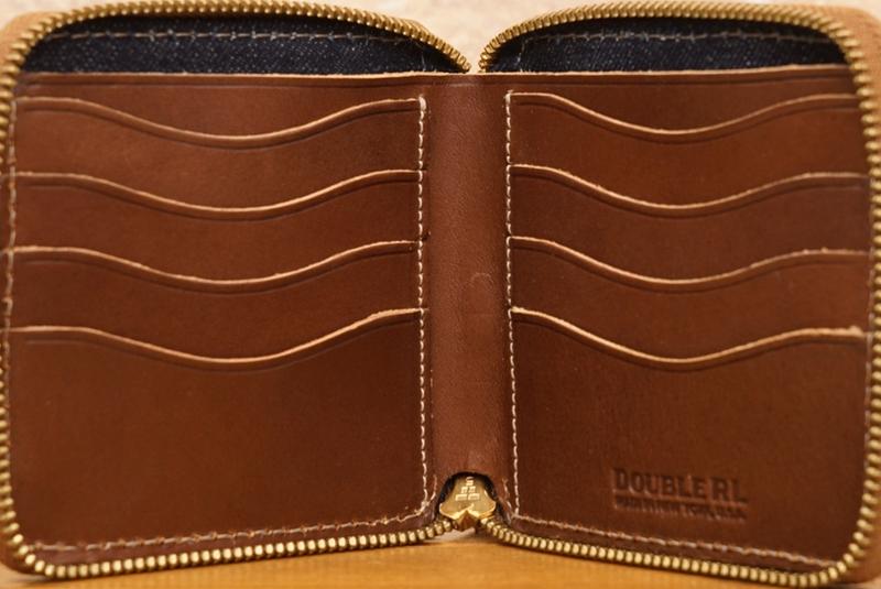 (ダブルアールエル) RRL 米国製 ラフアウト レザー ジップ ウォレット Roughout Leather Zip Wallet