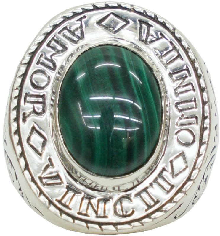 LHN Jewelry(エルエイチエヌ ジュエリー) ハンドメイド Amor Signet リング シルバー x マラカイト 米国製 メンズ silver ring