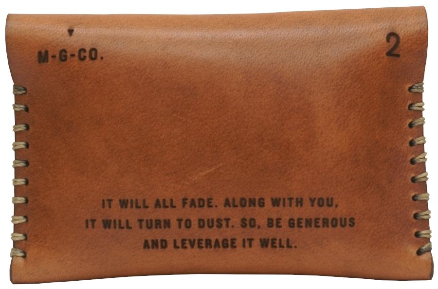 Misc. Goods Co. レザー カードケース ウォレット V.2 ライトブラウン アメリカ製 メンズ ユニセックス Leather Wallet
