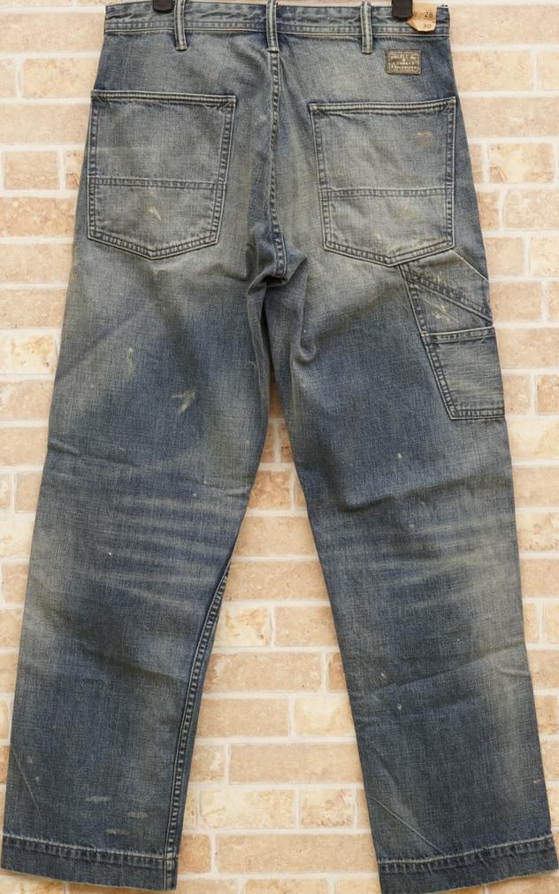 (ダブルアールエル) RRL Haysville ディストレスド カーペンター ジーンズ 日本製デニム メンズ Distressed Carpenter Jean
