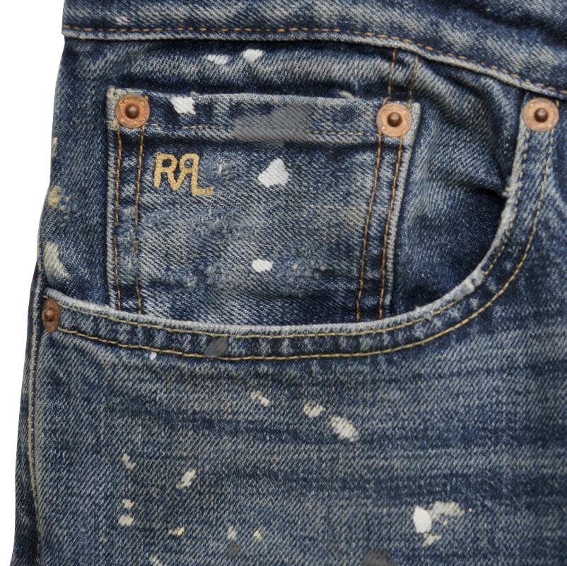 (ダブルアールエル) RRL Boykins Wash ジーンズ 米国製デニム 使用 スリムナロー メンズ Slim Narrow Fit Jean