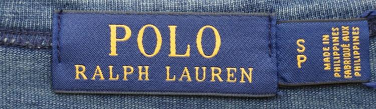 (ラルフローレン) Ralph Lauren アンカー刺繍 本藍染め コットン Tシャツ ダークインディゴ メンズ Custom Slim Fit Cotton T-Shirt