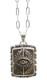 LHN Jewelry(エルエイチエヌ ジュエリー) ニューヨーク製 ハンドメイド 真鍮 x シルバー ネックレス All Seeing Eye Souvenir Necklace Silver Brass