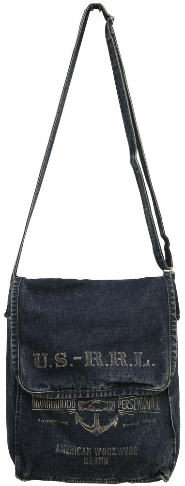 (ダブルアールエル) RRL インディゴ Jones ショルダー バッグ メンズ レディース ユニセックス Indigo Cotton Canvas Bag