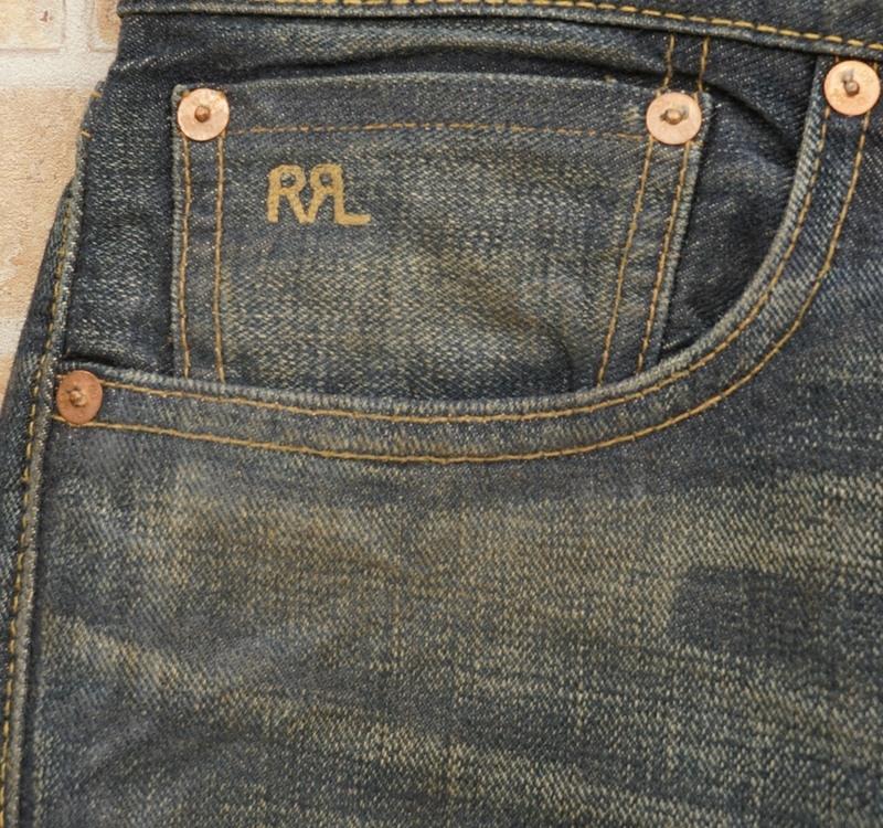 (ダブルアールエル) RRL 日本製デニム スリムフィット Belridge ジーンズ メンズ Slim Fit Selvedge Jean