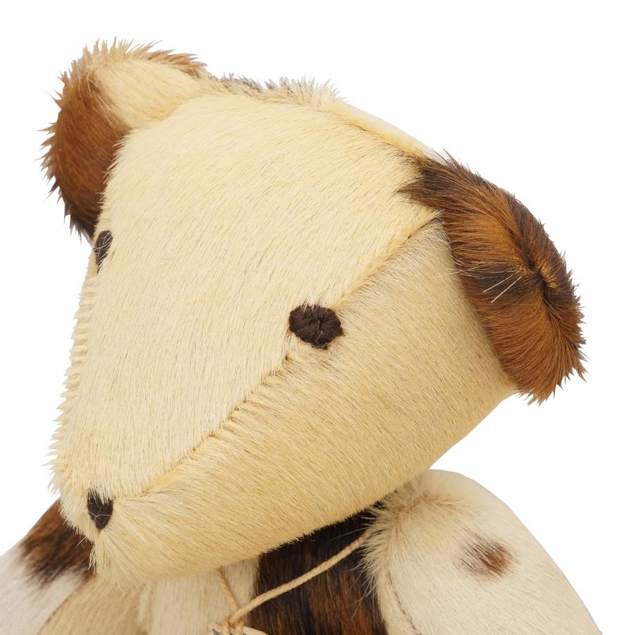 (ダブルアールエル) RRL 世界限定100個 リミテッドエディション ハラコ イタリアンレザー パッチワーク ベア No.47 Limited Edition Calf Hair Bear
