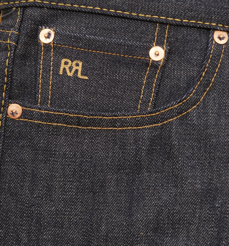 (ダブルアールエル) RRL スリムフィット リジッド セルビッジ ジーンズ メンズ Slim Fit Rigid Selvedge Jean