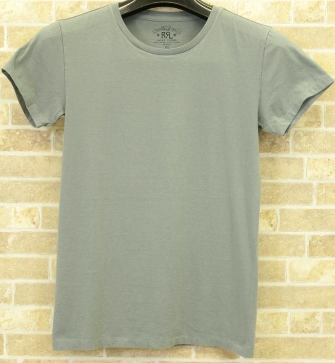 RRL / ダブルアールエル クルーネック Tシャツ ターコイズ 無地