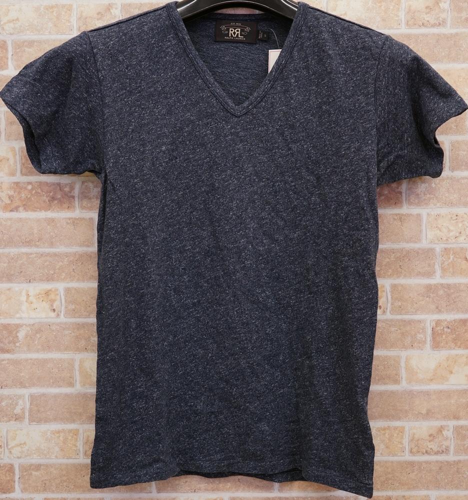 (ダブルアールエル) RRL コットン Vネック Tシャツ XS Royal Jaspe Cotton V-Neck T
