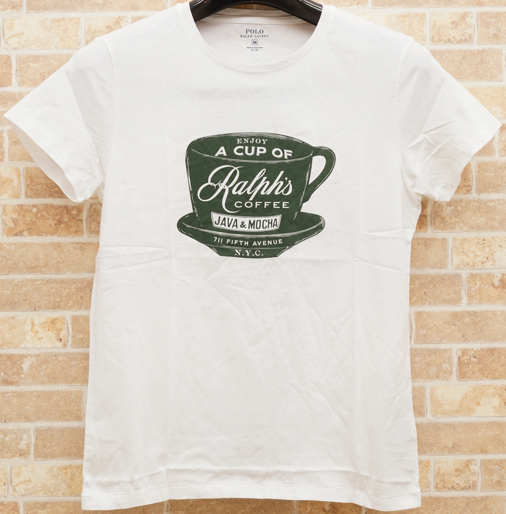 (ラルフローレン) Ralph Lauren ラルフズ コーヒー 限定 Tシャツ ホワイト メンズRalph's Coffee Graphic T-shirt