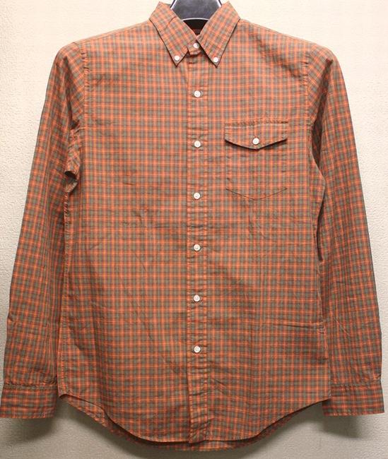 RUGBY / ラルフローレン ラグビー フラップポケット ボタンダウン シャツ オレンジ × グリーン