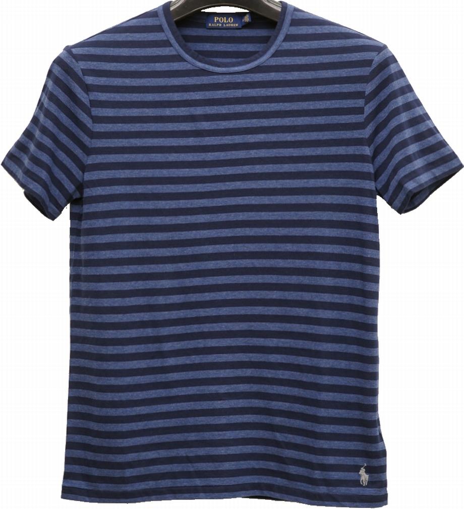 (ラルフローレン) Ralph Lauren カスタム スリム コットン Tシャツ ボーダー ネイビー メンズ Custom Slim Fit Jersey T-Shirt Navy