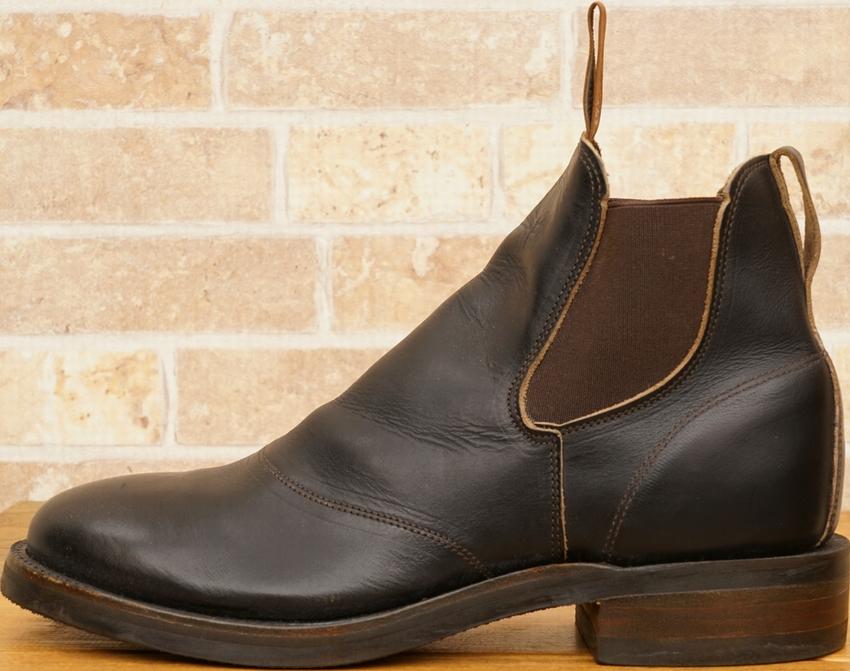 (ダブルアールエル) RRL 米国製 レザー コングレス ワークブーツ ブラック メンズ Leather Congress Work Boot