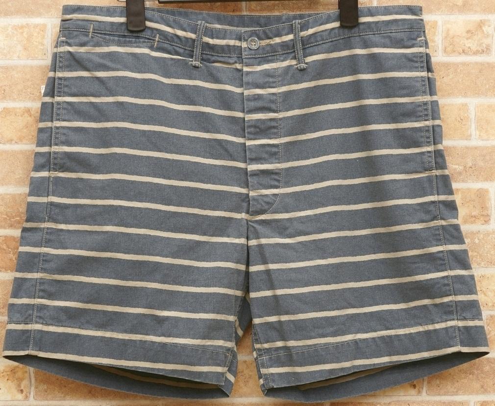 (ダブルアールエル) RRL スリム ボーダー コットン ショーツ メンズ Slim Striped Cotton Short