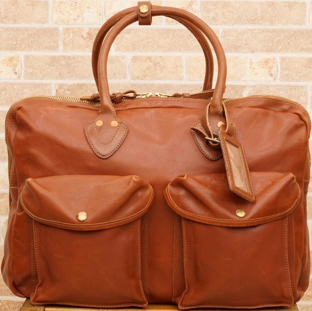 (ダブルアールエル) RRL イタリアン レザー カーゴ ブリーフケース Leather Cargo Business Case