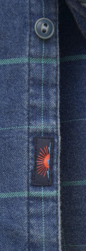 FAHERTY BRAND (ファリティ ブランド) インディゴ ウィンドウペーン チェック シャツ ブルー メンズ Cotton Indigo Windowpane Blue