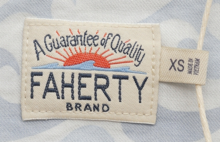 FAHERTY BRAND (ファリティ ブランド) Endless Peaks ウェーブ プリント 半袖 シャツ メンズ