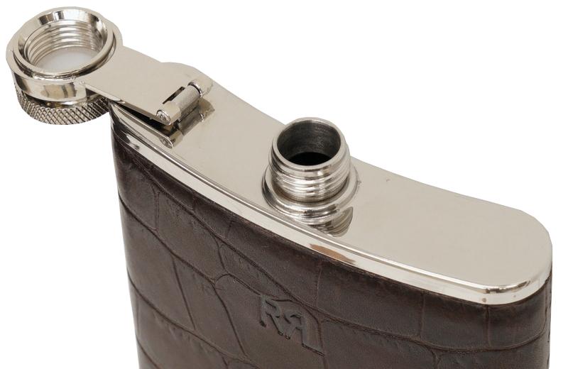 (ダブルアールエル) RRL クロコダイル エンボスド レザー フラスク フレンチレザー Crocodile Embossed Leather Flask