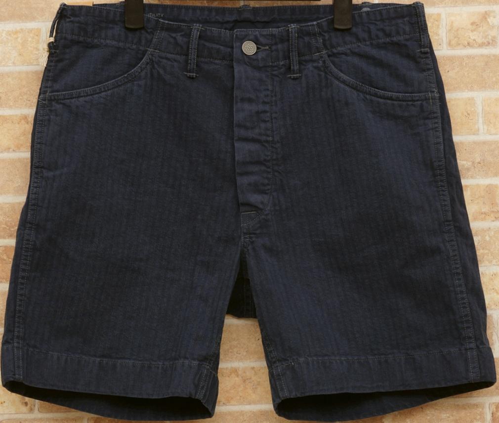 (ダブルアールエル) RRL コットン ユーティリティ ショートパンツ ネイビー メンズ Cotton Utility Short Salem Blue