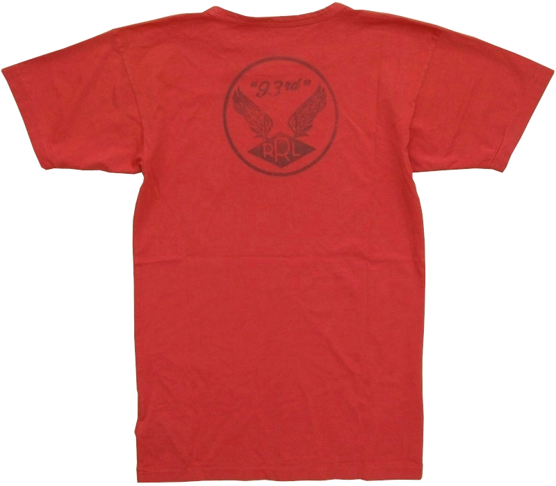 (ダブルアールエル) RRL コットン グラフィック バックプリント Tシャツ レッド メンズ Cotton Jersey Graphic Tshirt Red