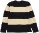 Dehen 1920(デーヘン) ビッグ ストライプ ボーダー セーター ブラック x ナチュラル メンズ アメリカ製 Big Stripe Sweater Black / Natural