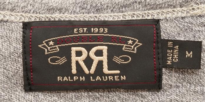 (ダブルアールエル) RRL コットン Vネック Tシャツ S Cotton V-Neck T