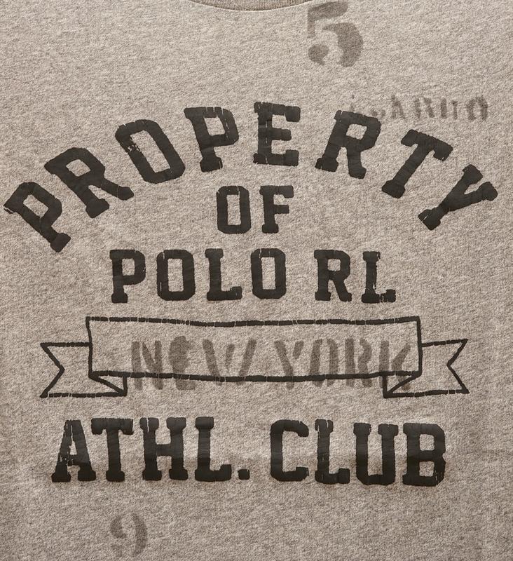 (ラルフローレン) Ralph Lauren コットン グラフィック Tシャツ スクリーンプリント