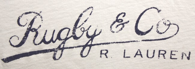 RUGBY / ラルフローレン ラグビー ロゴ プリント ヴィンテージ加工 Tシャツ ホワイト L