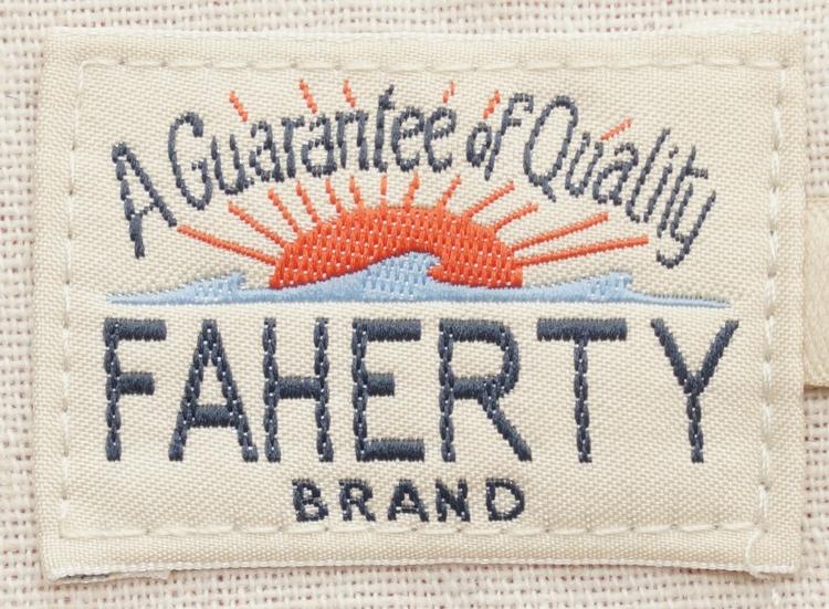 FAHERTY BRAND (ファリティ ブランド) 半袖 ヘンリー 霜降りグレー 天然コロゾボタン メンズ Short Sleeve Heather Henley Charcoal Heather