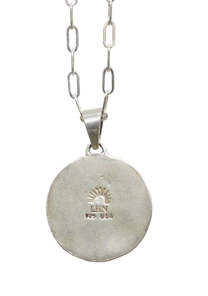 LHN Jewelry(エルエイチエヌ ジュエリー) ハンドメイド フェローシップ スーベニア ネックレス シルバー x 真鍮 ユニセックス アメリカ製 Souvenir Necklace