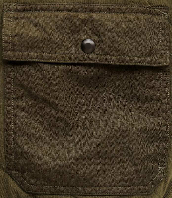 (ダブルアールエル) RRL キルティング コットン ジャージー フーディー パーカー オリーブ メンズ Quilted Cotton Jersey Hoodie