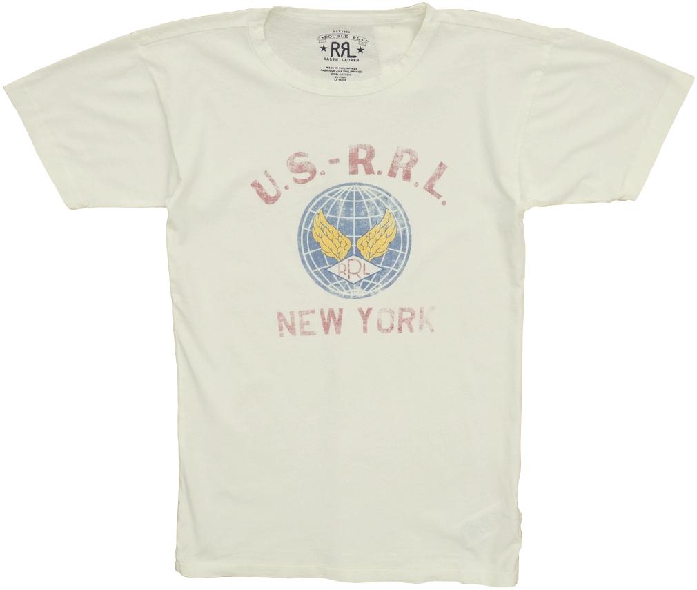 (ダブルアールエル) RRL コットン グラフィック Tシャツ ホワイト メンズ Cotton Jersey Graphic Tshirt White