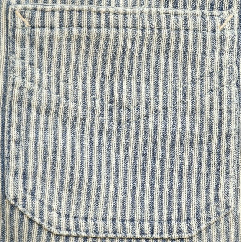 (ダブルアールエル) RRL インディゴ ストライプ コットン ヘンリー 本藍染め ブルー メンズ Indigo Striped Cotton Henley