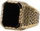 LHN Jewelry(エルエイチエヌ ジュエリー) アメリカ製 ハンドメイド Aztec リング 真鍮 x オニキス メンズ ユニセックス brass onyx ring