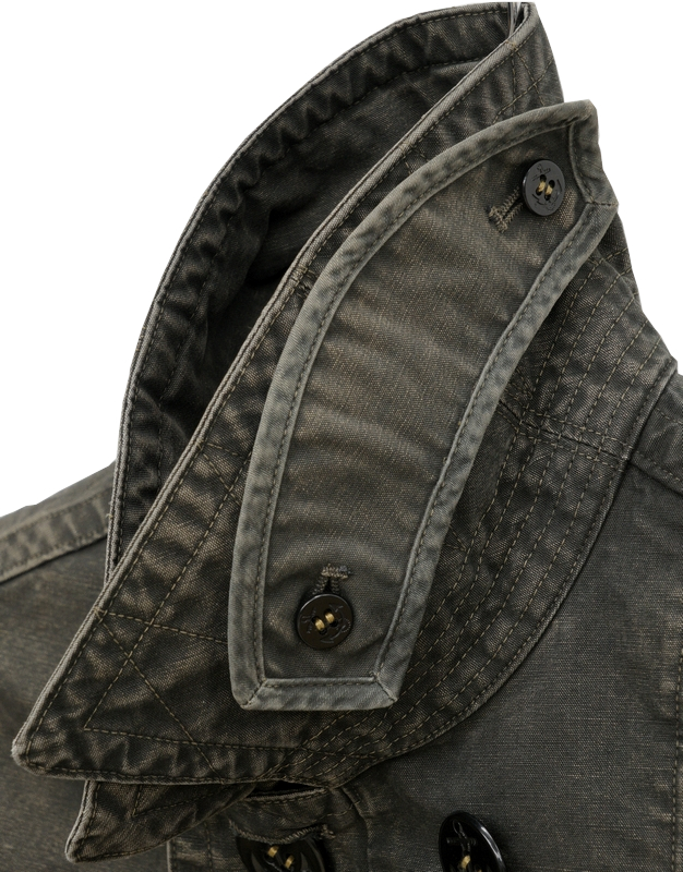 (ダブルアールエル) RRL 日本製生地 ウォッシュ ド キャンバス ピーコート メンズ コットン ブラック Washed Canvas Pea Coat