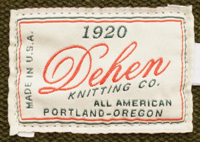 Dehen 1920(デーヘン) クラシック カーディガン オリーブ メンズ アメリカ製 Classic Cardigan Loden