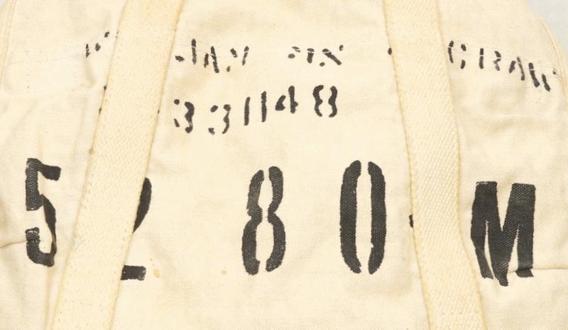 (ダブルアールエル) RRL 旧作 ステンシル キャンバス x レザー バックパック リュックサック オフホワイト