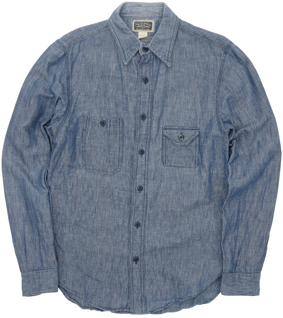 【委託販売品】(ダブルアールエル) RRL コットンブレンド ワークシャツ ブルー メンズ Cotton-Blend Work Shirt