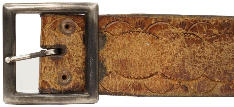 【 一点物 希少 】ヴィンテージ レザー ベルト アンティーク ブラウン No.1 メンズ Vintage Leather Belt Brown