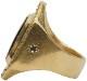 LHN Jewelry(エルエイチエヌ ジュエリー) 米国製 ハンドメイド 40 Knots リング 真鍮 x オニキス メンズ ユニセックス Brass Onyx ring