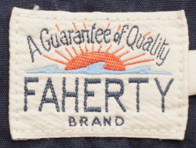 FAHERTY BRAND (ファリティ ブランド) アメリカ製コットン使用 ヘンリー 霜降りネイビー メンズ Slub Cotton Henley Navy Heather