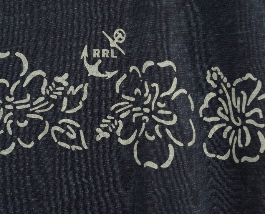 (ダブルアールエル) RRL インディゴ ハイビスカス ジャージー Tシャツ 本藍染め 花柄 メンズ Indigo Hibiscus Jersey Tshirts