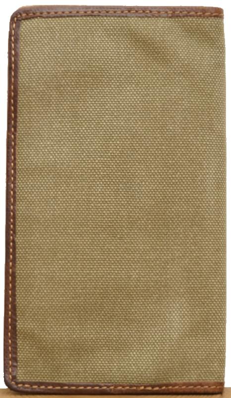 (ダブルアールエル) RRL ミリタリー キャンバス レザー ウォレット 財布 Military Long Wallet